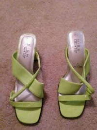 pair of green-and-white sandals Redding, 96002
