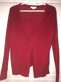 Red cardigan from Forever 21 Burnaby, V5A 4T6