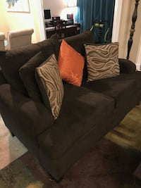 Dark brown fabric 2-seat sofa Houston, 77009