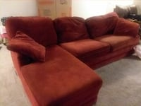 Red sectional couch with Lazboy mattress  Raleigh, 27606