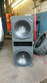 gray and black subwoofer speaker Kitchener, N2H 5C6