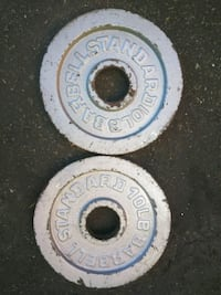 two white and blue weight plates La Puente, 91744