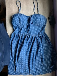 Blue with white dots dress. Louisville, 40272