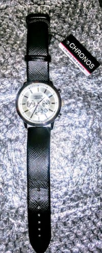 Chrono Watch Co. Mens Leather Band Watch - NWT Silver Spring, 20906