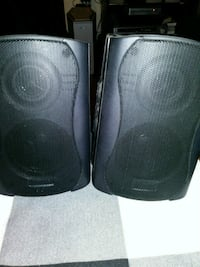 two black and gray speakers Toronto, M1L 3S1