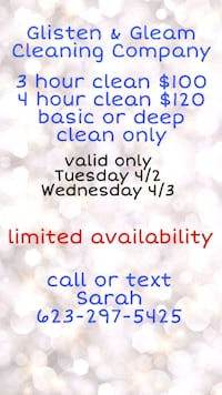GLISTEN AND GLEAM CLEANING COMPANY Glendale, 85308