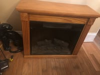 brown wooden framed electric fireplace Silver Spring, 20904