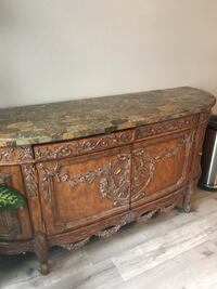 """Gorgeous buffet/side table/ console.   Beautiful marble top with a lot of storage.  76""""Lx24 1/2 Dx 35 1/2H.  Must see!!  Stunning piece     Tinton Falls, 07724"""
