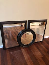 black wooden framed wall mirror La Plata, 20646