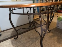Beautiful steel and wood dining set with 4 chairs and hutch Las Vegas, 89131