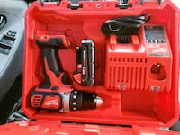 red and black Milwaukee cordless power drill North Highlands, 95660