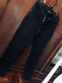 Jeans da donna in denim nero