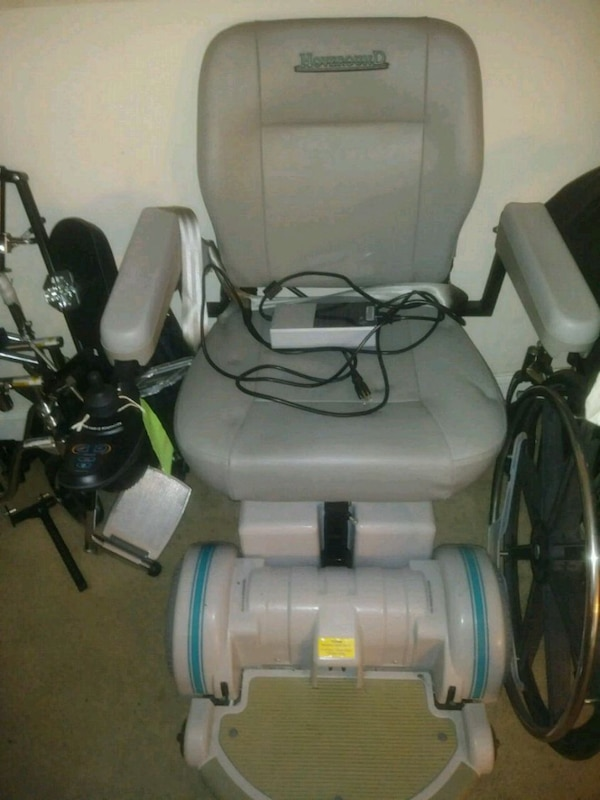 Hoverround gray and blue power chair