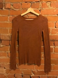 brown scoop-neck long-sleeved shirt Toronto, M5A 2T3
