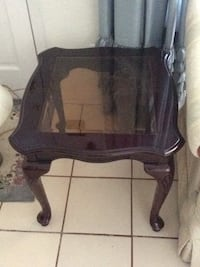black wooden framed glass top side table Gainesville, 32606