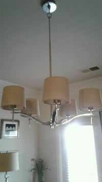 brown 5-light uplight chandelier