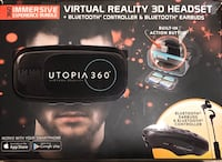Utopia 360- Virtual Reality 3D Headset + Bluetooth Earbuds Woodbridge, 22193
