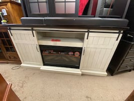 Electric Fireplace and Entertainment Console