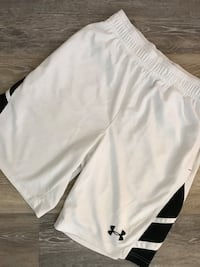 White and black Under Armour shorts