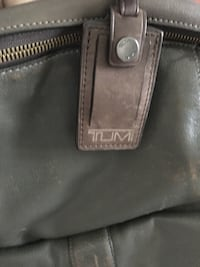 TUMI leather backpack