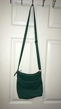 Teal shoulder purse