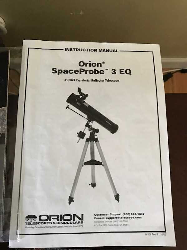 Used black Orion Space Probe telescope manual for sale in Woodbury