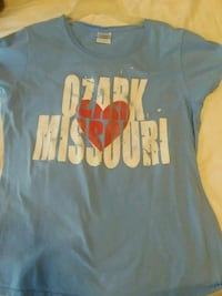 Blue, white and red t-shirt. Size medium  Ozark, 65721