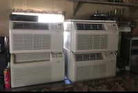 White window type air conditioner Hot weather is coming tonight to get them Sean they are the best and the information and the second pictures Reading, 01867