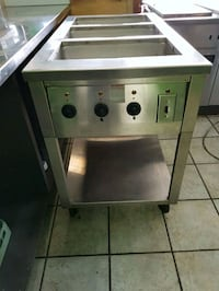 Restaurant 3 well hot table on casters Vaughan, L4K