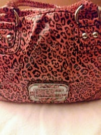 red and black floral leather handbag Manassas
