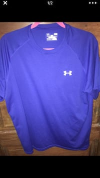 687ddedb3 Used Under Armour  Men s Blue Large Heat Gear Shirt  12 for sale in ...