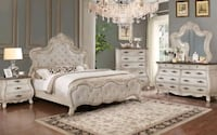 New♤Weathered White Color 4 Piece Bedroom Set♤Special Offer♤39$ Down Towson