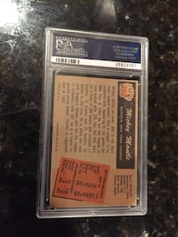 Mickey Mautle card with case
