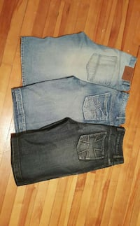 3 pairs of jean shorts
