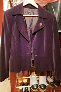 Purple suede dress jacket Tahari Germantown, 20876