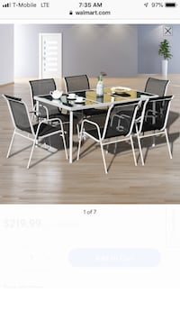 rectangular white wooden table with four chairs dining set San Diego, 92103