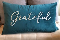 Grateful Turquoise Pillow