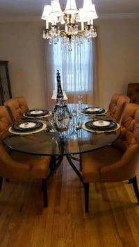 6 Italian silk dining room chairs  Farmington, 06032