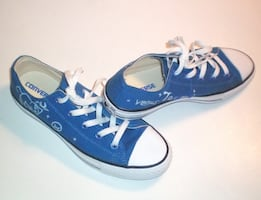 Converse All Stars Low Top Zodiac Sign Shoes Size Mens 6 Womens 8