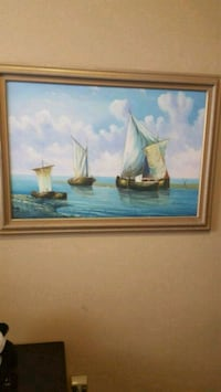 blue and brown sailing boat painting Lincoln, 95648