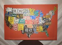 Pottery Barn USA License Plate Canvas Purcellville, 20132