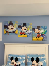 3 piece Mickey Mouse canvas