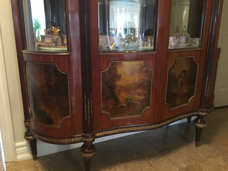 Antique large china cabinet 1