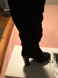 Aldo Tall All Leather Boots Size 8/8.5 New Montréal, H1A