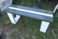 Carbon Grey and White striped Bench 3716 km