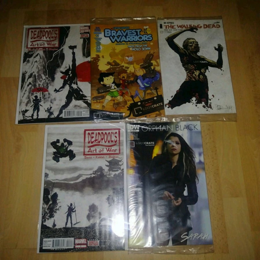 Collector comic boooks. $7 each or $25 for all 5 All in protective