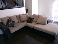 Black and beige sectional, good condition.  San Antonio, 78250