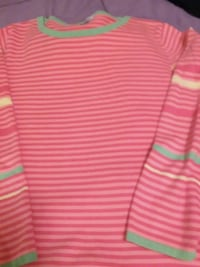 pink and white striped polo shirt Morristown, 37814