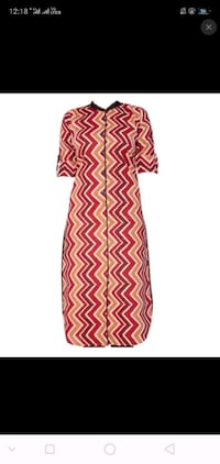 red and white chevron print textile Delhi, 110085