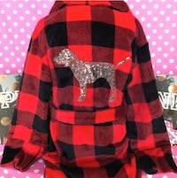 Victorias secret PINK dog bling robe - small
